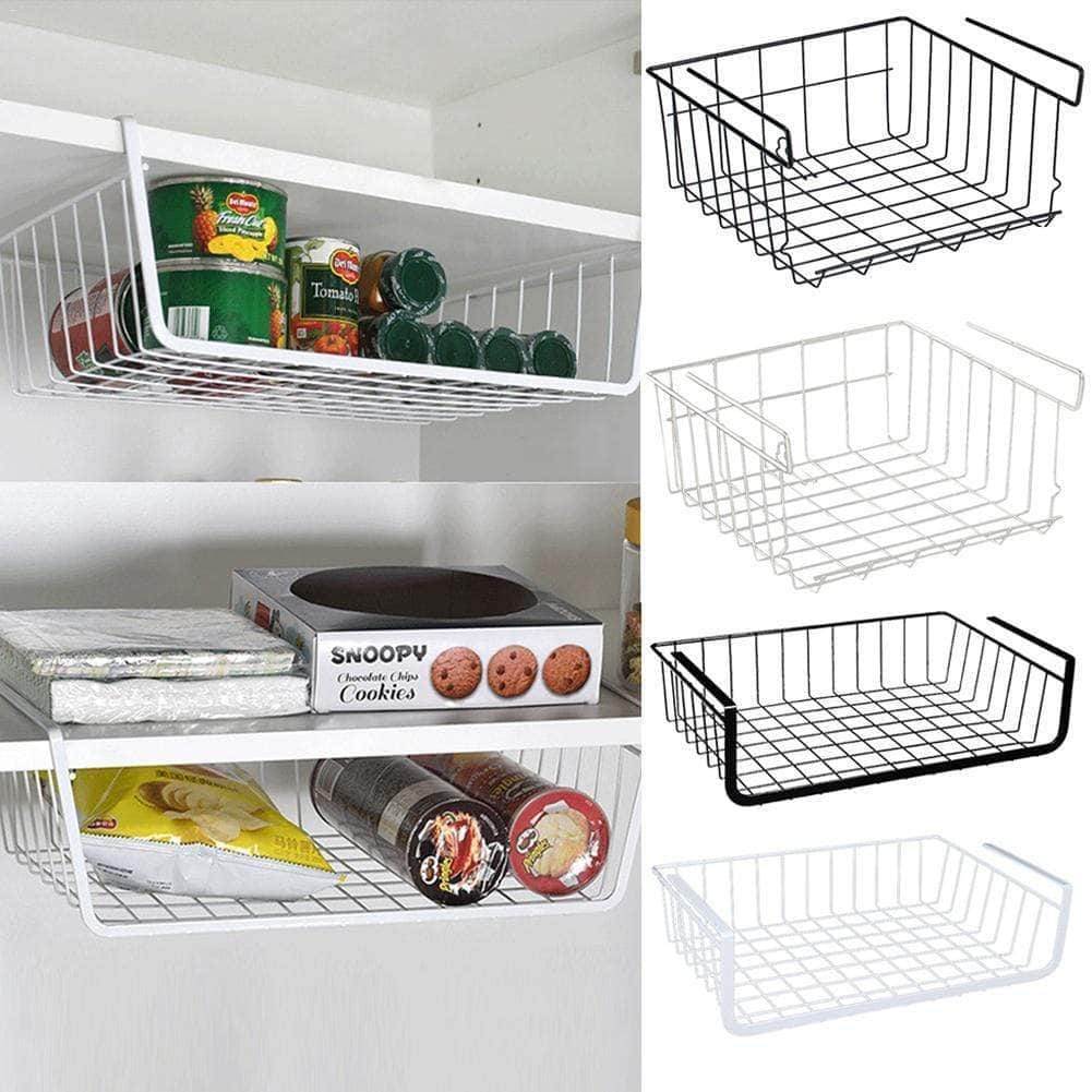 Under Cabinet Storage Shelf Wire Basket - TidyTown