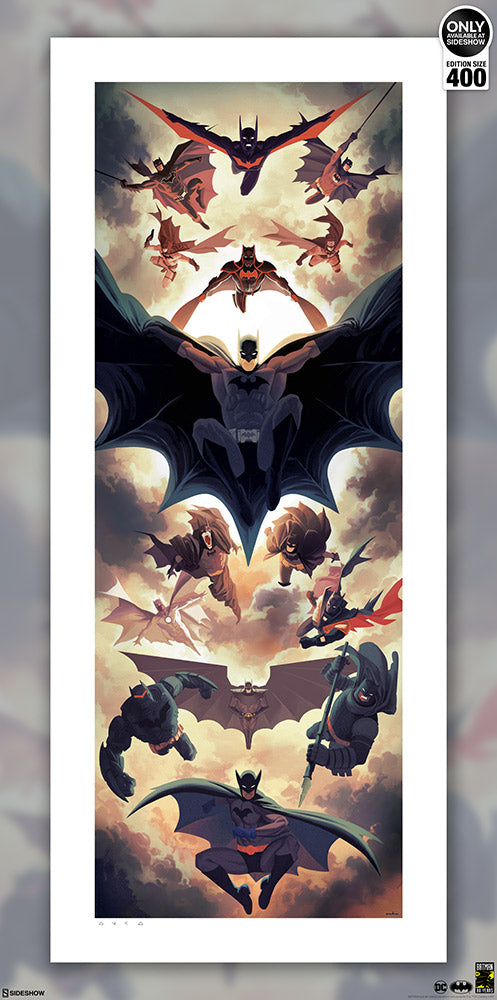 Batman Legacy Exclusive 80th Anniversary Fine Art Print (Unframed)