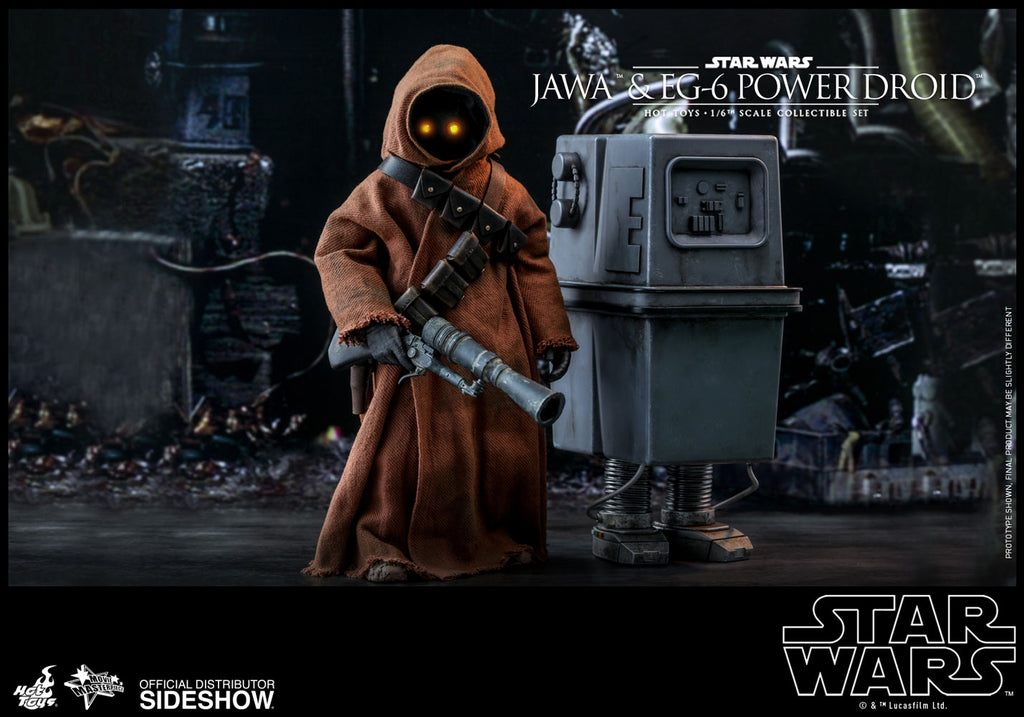 Jawa and EG-6 Power Droid Collectible Figures Set