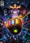 Thanos & Infinity Gauntlet Fine Art Print (Unframed)
