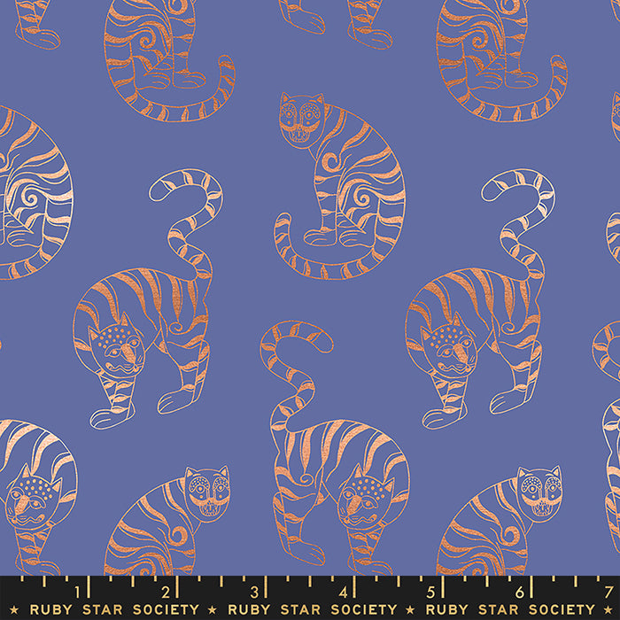 Tiger In The Taiga in Metallic Twilight