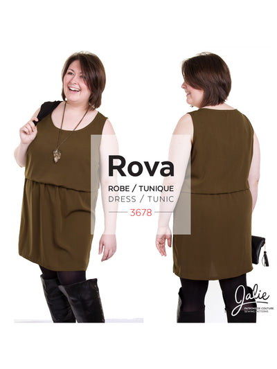 Rova Blouson Tank Dress and Tunic Pattern