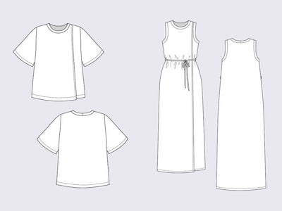Anneli Double Front Dress & Tee pattern