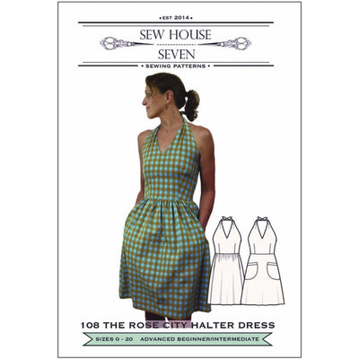 The Rose City Halter Dress Sewing Pattern - M is for make
