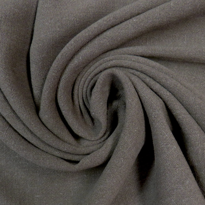 Bray Dark Grey Viscose Linen