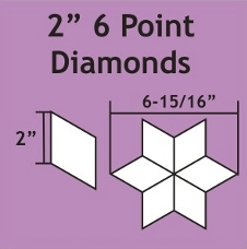 "2"" 6 Point Diamond Paper Pieces"