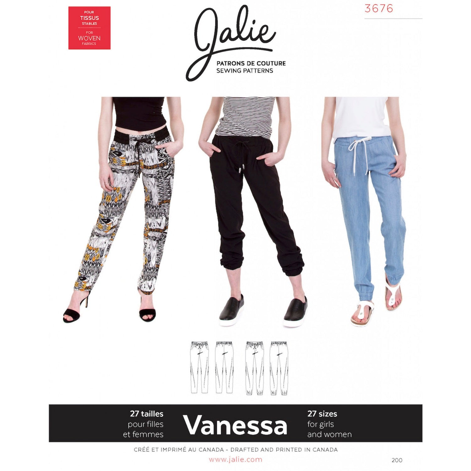 Vanessa Fluid Trousers Pattern