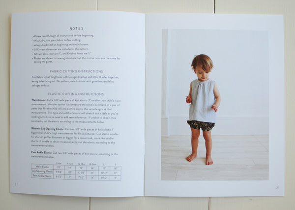 Baby + Toddler Bloomers and Pants Sewing Pattern