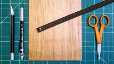 Dark brown wrist ruler