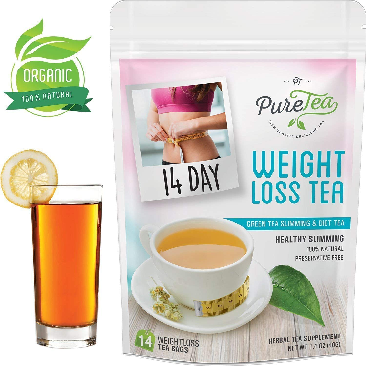 Puretea Detox Tea For Weight Loss Best Slimming Tea And Appetite Suppressant Reduce Bloating And