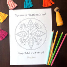Load image into Gallery viewer, Diwali Coloring Page