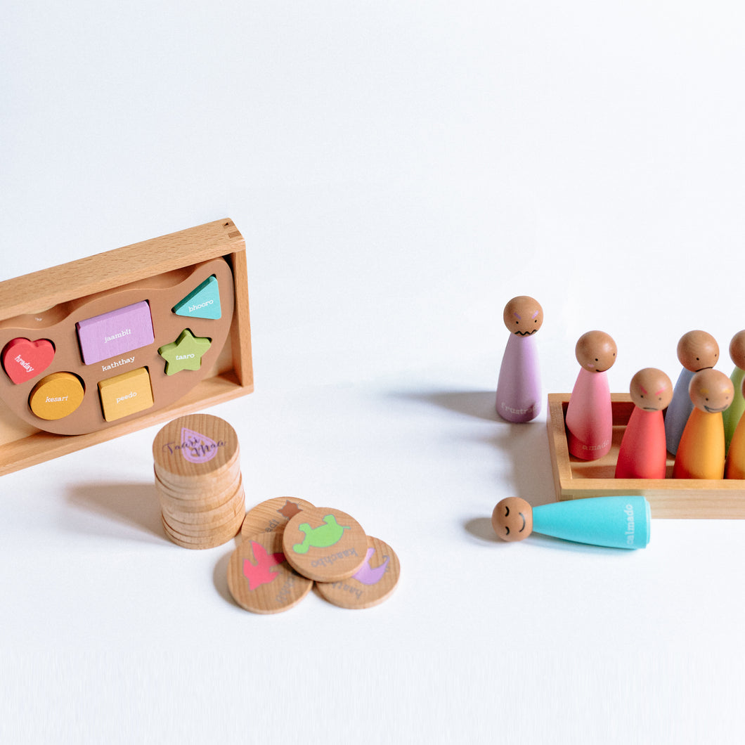 Wooden Toys Bundle • Gujarati | Hindi