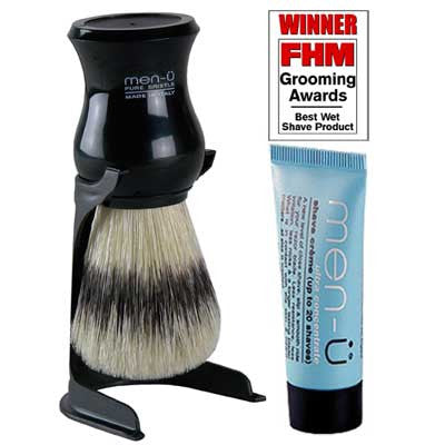 Men-u Black barbiere shaving brush