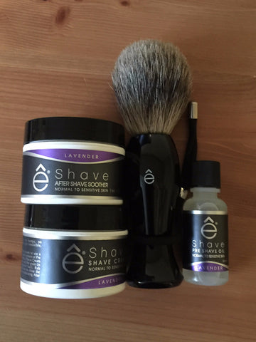 eShave Brush set Lavender