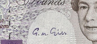Autographs on banknotes