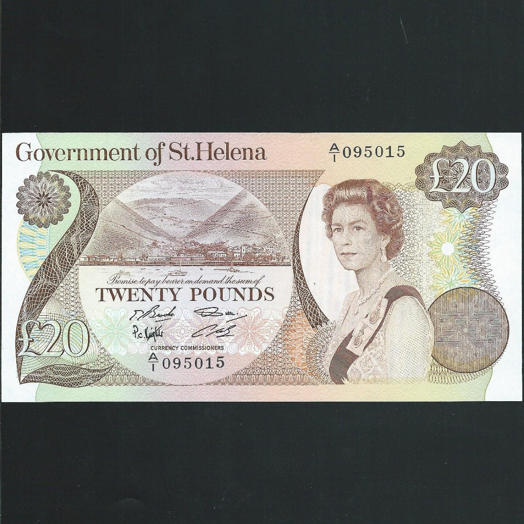 P.10a St Helena £20 (1986) count crease, otherwise UNC