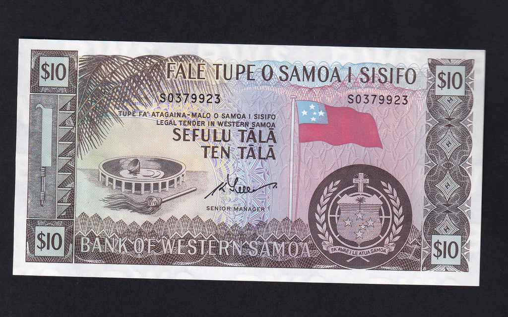 P18d  type Western Samoa 10 Tala ( 2019 recently reprinted by the Issuing Authority) sig.4 Senior manager UNC