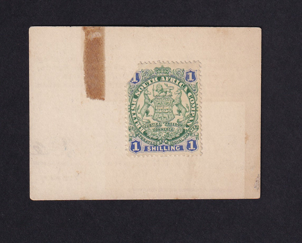 PS665a Boer War (1900) Marshall Hole Card Money 1/- , tape marks otherwise VF