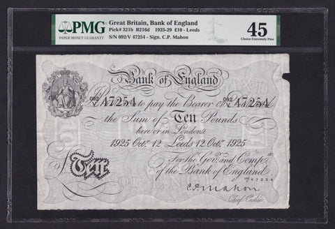 B216d Mahon £10, Leeds branch note, 12 October 1925, EF