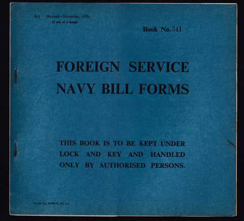 BOOK OF BILLS OF EXCHANGE FOR ROYAL NAVY (1970S) UP TO 10 BILLS IN BOOK GDVF