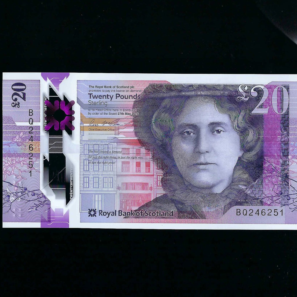 Royal Bank £20 New Polymer UNC