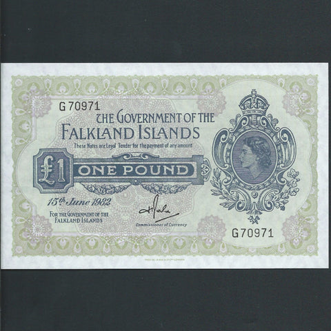 P. 8e Falkland Islands £1 (15.06.1982) Rowlands signature, UNC