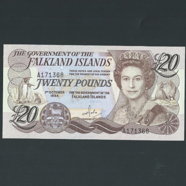 P.15a Falkland Islands £20 (1984) UNC - Colin Narbeth & Son Ltd. - 1