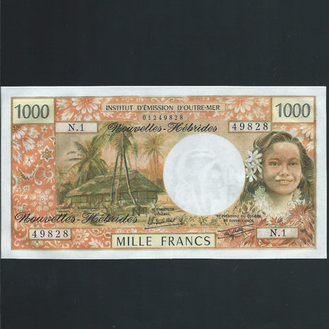 P.20c New Hebrides 1000 Franc (1979) signature 3A, UNC