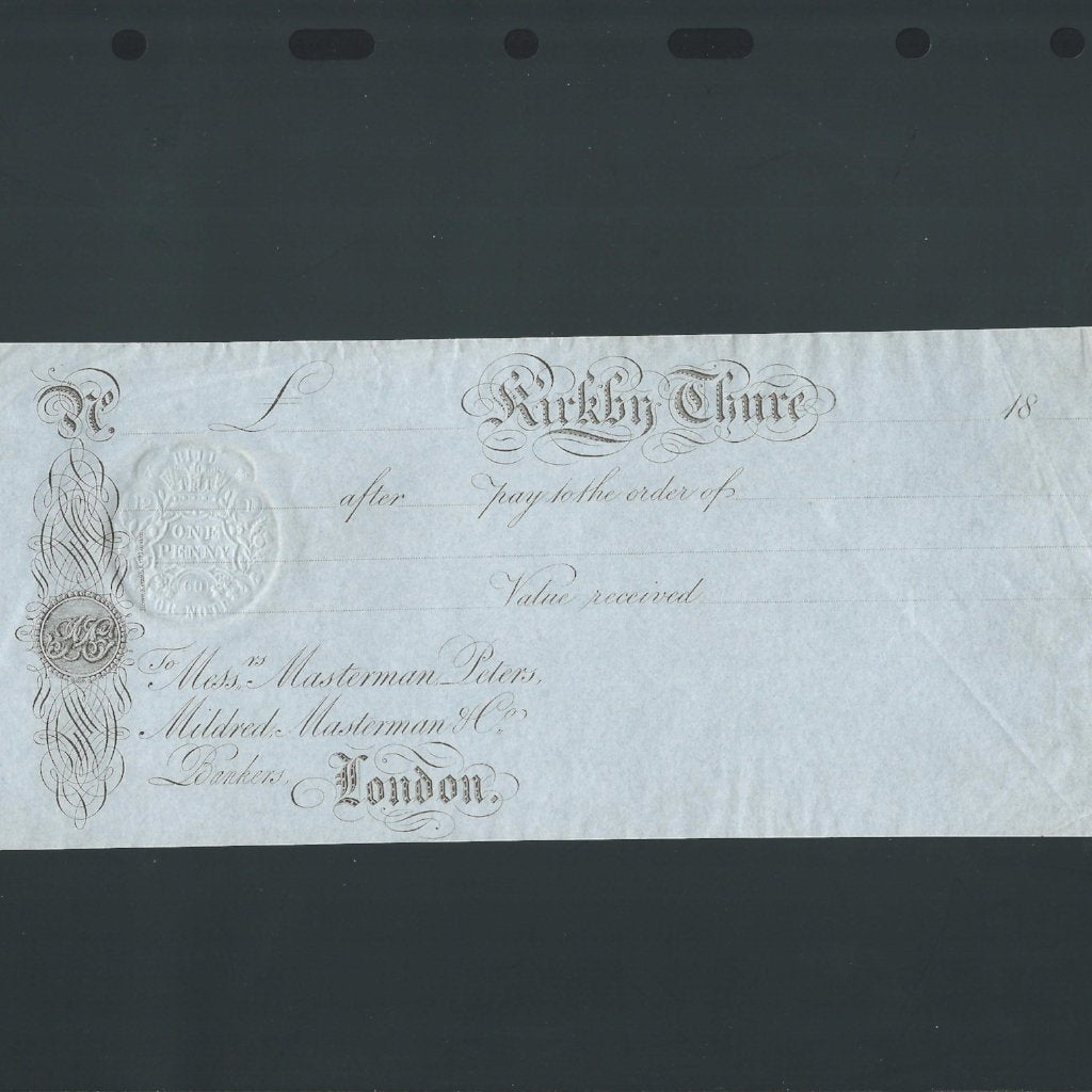 Provincial - Kirkby Thure (18xx) unissued pay to order