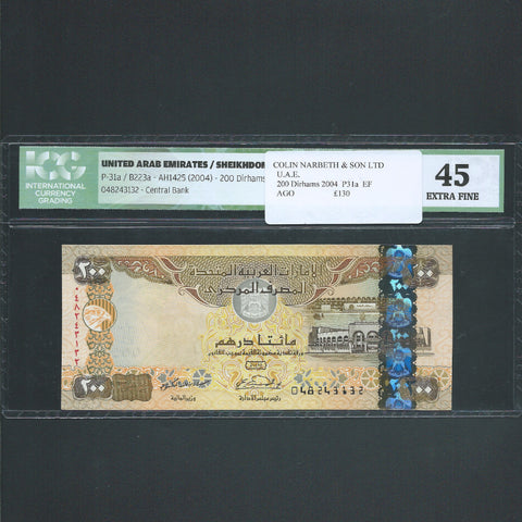P.31 UAE 200 Dirhams (2004) EF