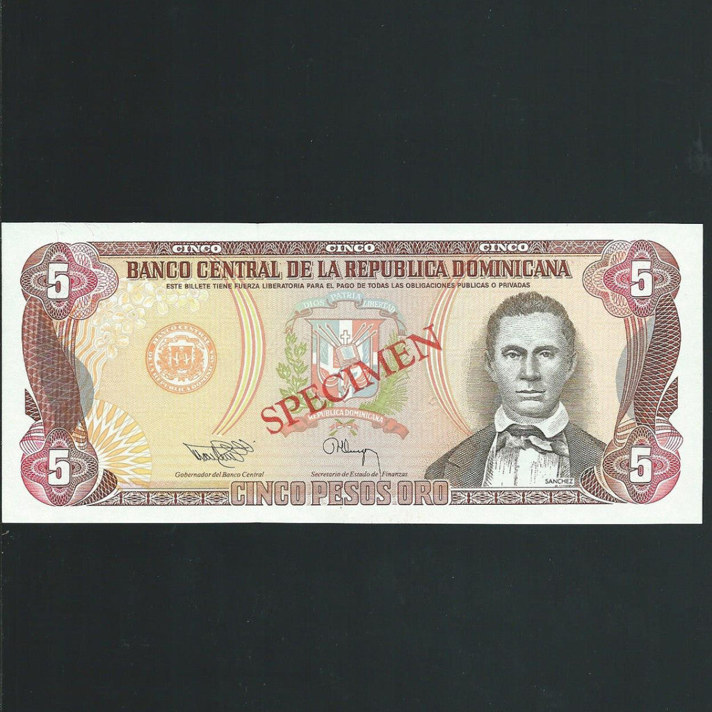 P.143s Dominican Republic 5 Peso (1993) USBC, UNC - Colin Narbeth & Son Ltd. - 1