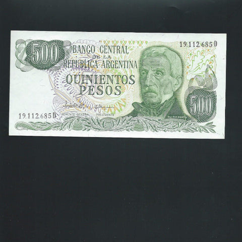 P.303c Argentina 500 Peso (1982) UNC - Colin Narbeth & Son Ltd.