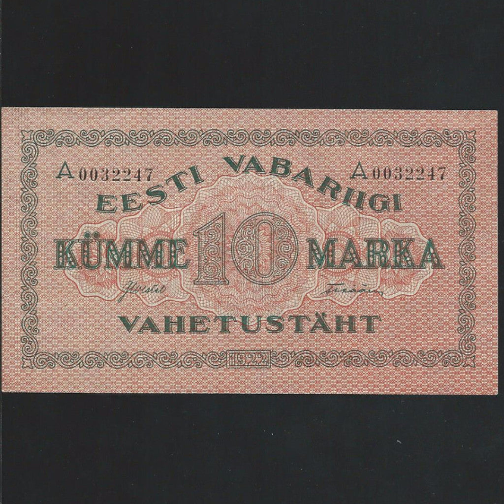 P.53b Estonia 10 Marka (1922) A 0032247  GDEF - Colin Narbeth & Son Ltd. - 1