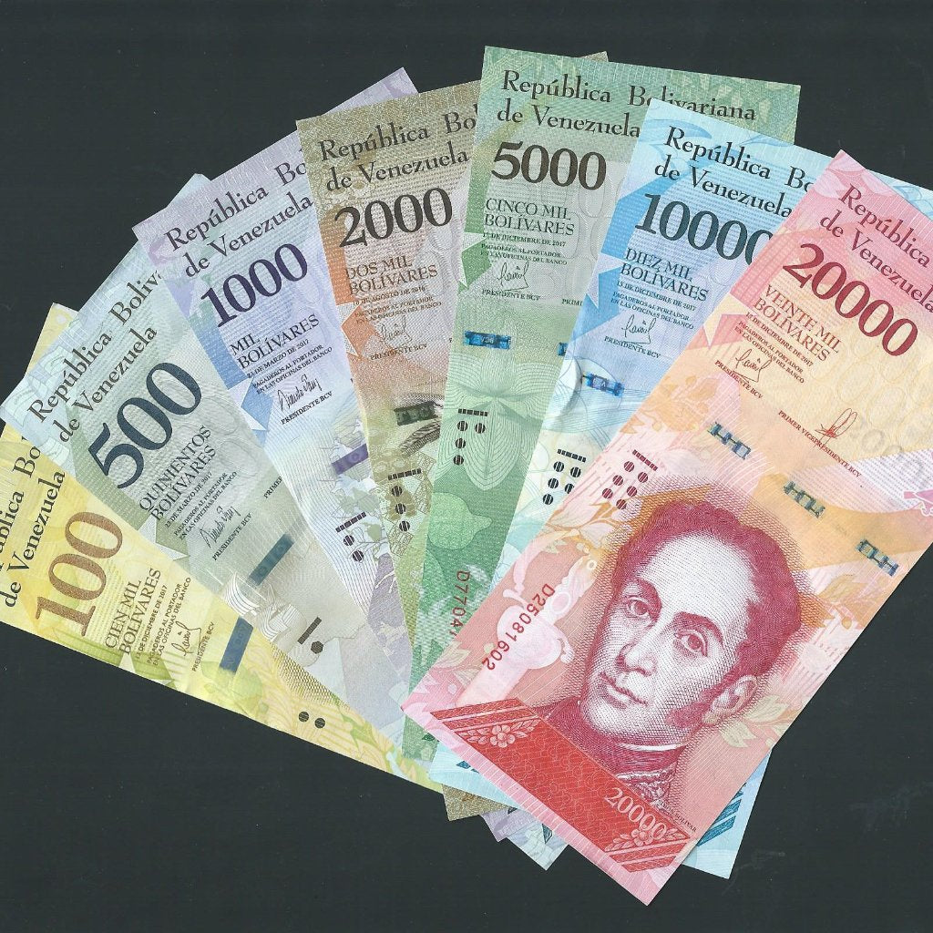 Venezuela P.93-99 types some dates not in krause 100, 500, 1000, 2000, 5000, 10000 & 20000 Bolivares set (2016-17)