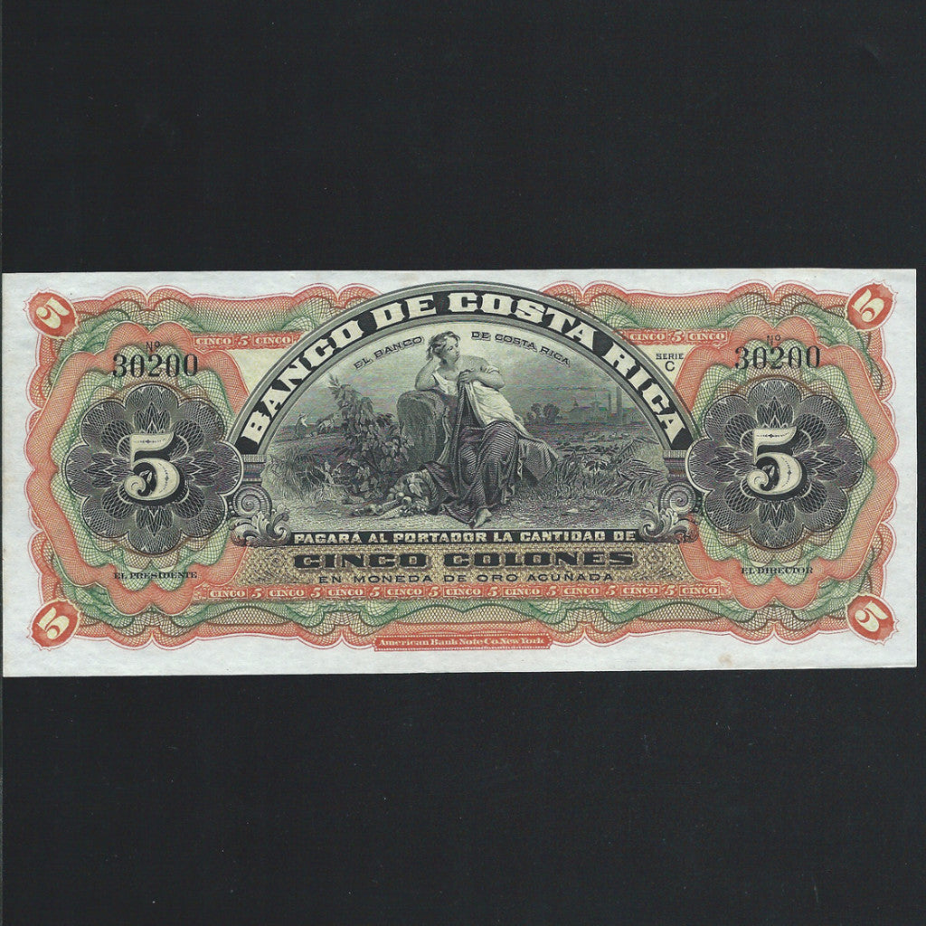 PS.173r Costa Rica 1 Peso (1901) unissued, UNC - Colin Narbeth & Son Ltd. - 1