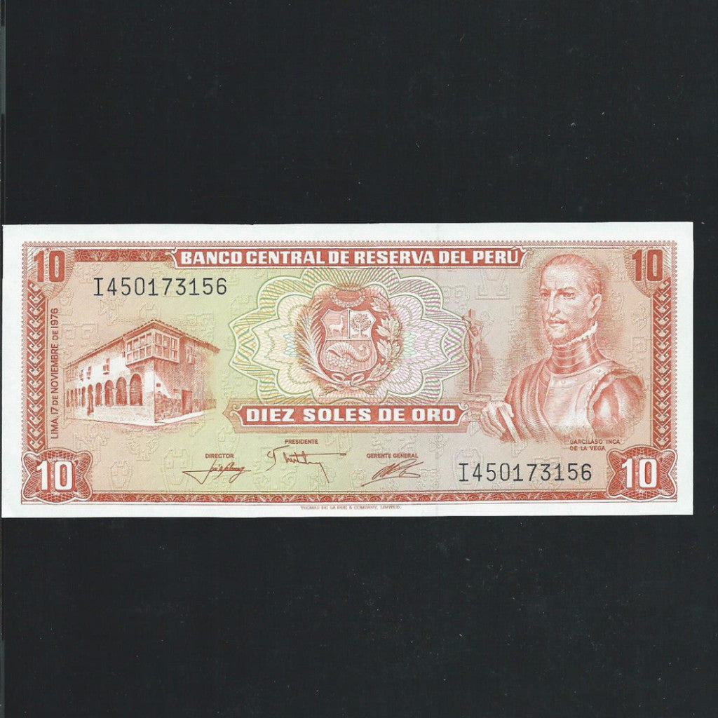 P.112 Peru 10 Soles (1976) UNC - Colin Narbeth & Son Ltd.