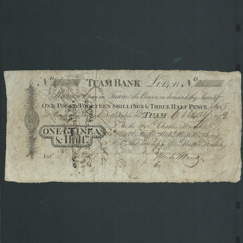 Ireland One Half Guinea (1812) Taum Bank, for Ffrench etc., PB332C, VG