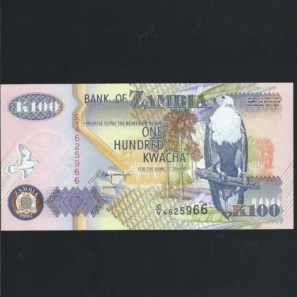 P.38b Zambia 100 Kwacha (1992) signature 11, UNC - Colin Narbeth & Son Ltd. - 1