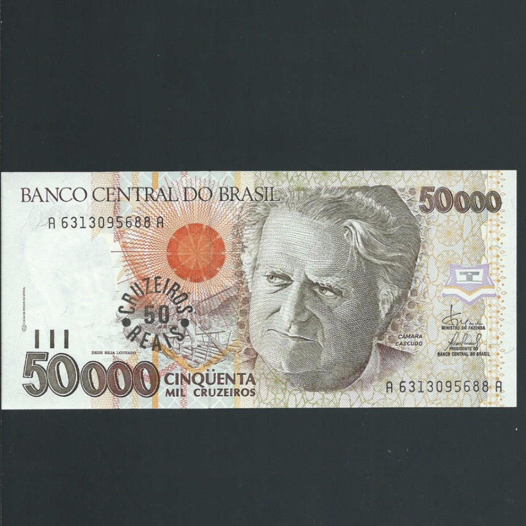 P.237 Brazil 50 Cruzerios Reals on 50000 Cruzeiros (1993) UNC - Colin Narbeth & Son Ltd. - 1