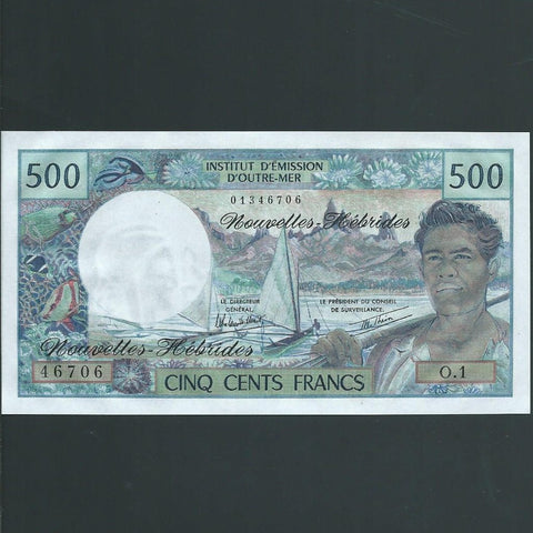 P.19b New Hebrides 500 Francs (1979) signature 3, UNC