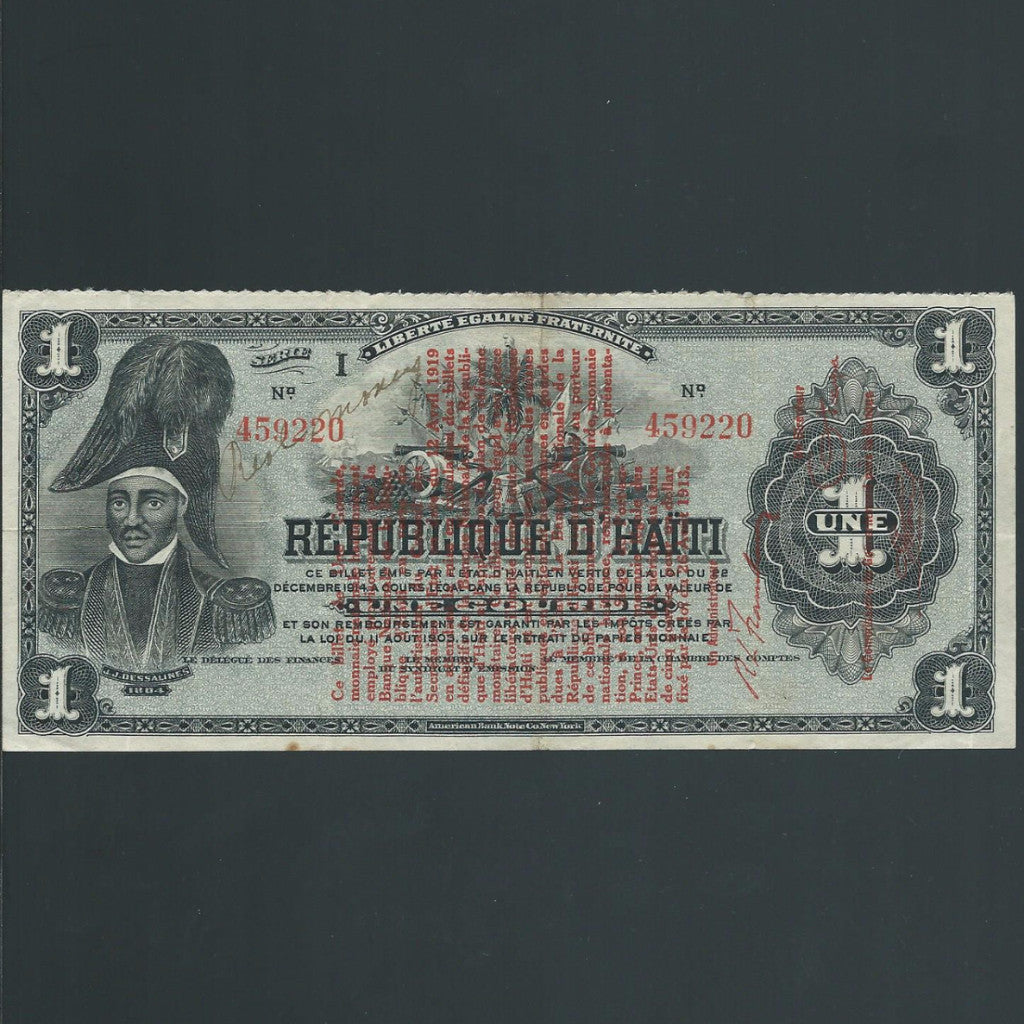P.140a Haiti 1 Gourde (L.1919) GDVF - Colin Narbeth & Son Ltd. - 1