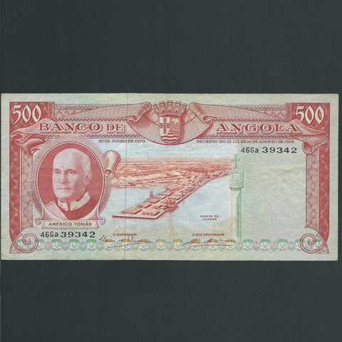 P. 97 Angola 500 Escudoas (1970) VF - Colin Narbeth & Son Ltd. - 1