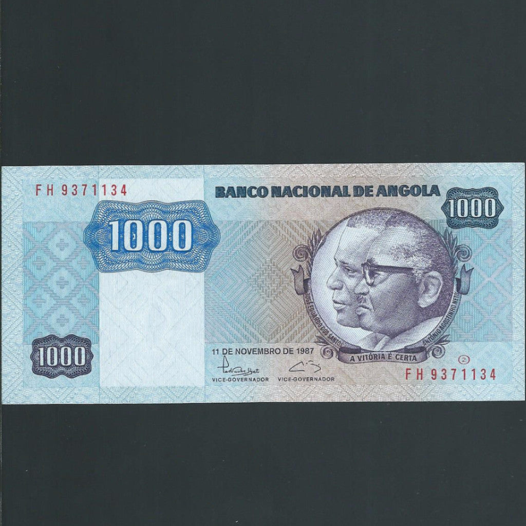 P.121b Angola 1000 Kwanzas (1987) signature 15, UNC - Colin Narbeth & Son Ltd. - 1