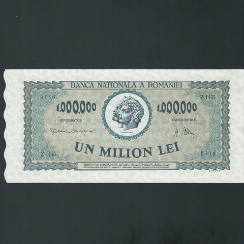 P.60a Romania 1 Million Lei (1947) A/UNC