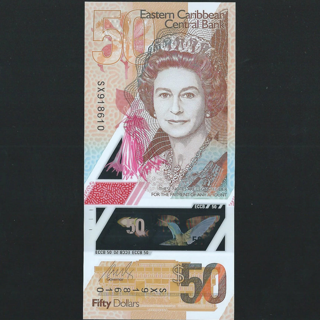 East Caribbean $50 polymer (new issue) UNC