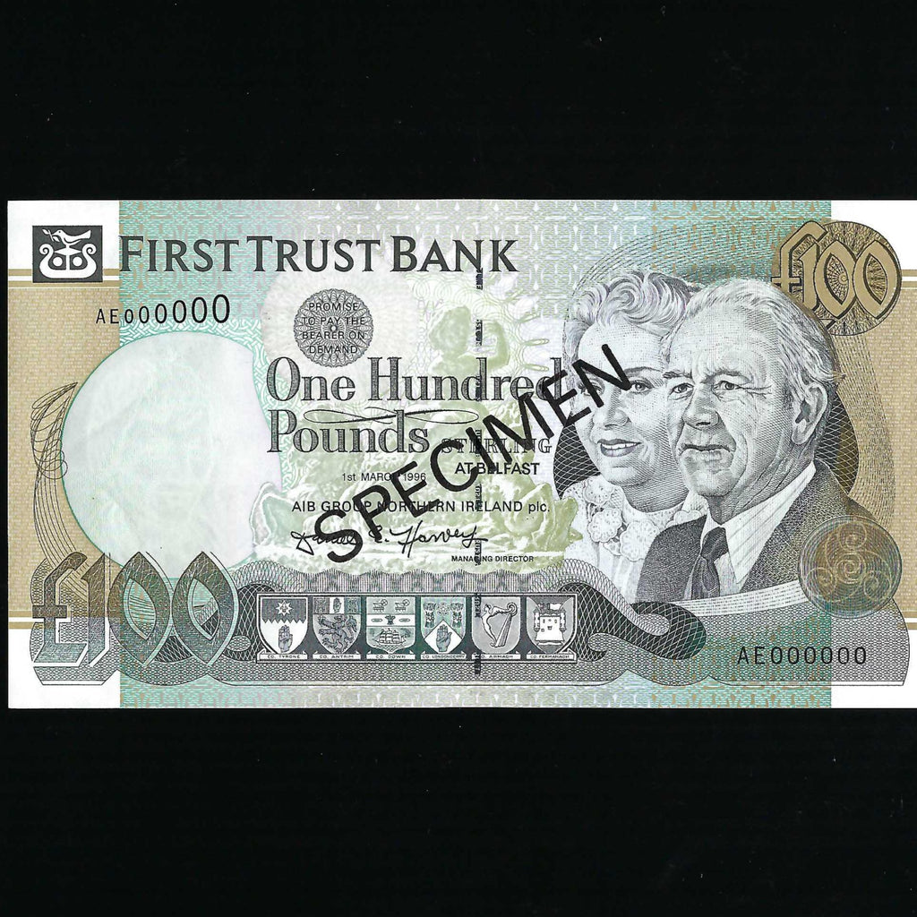 P.135s Northern Ireland £100 specimen (01.03.1996) First trust Bank, A/UNC