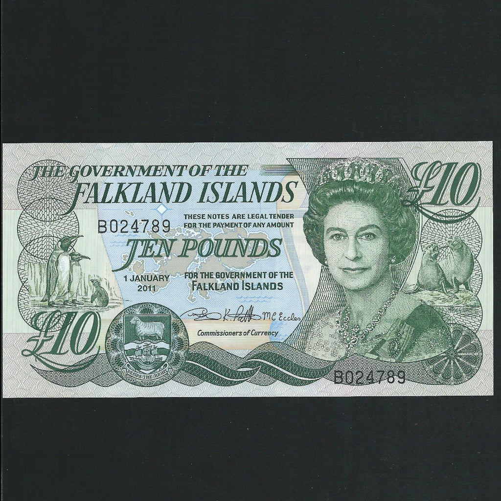P.14b Falkland Islands £10 (2011) three signatures, 'B' prefix, UNC