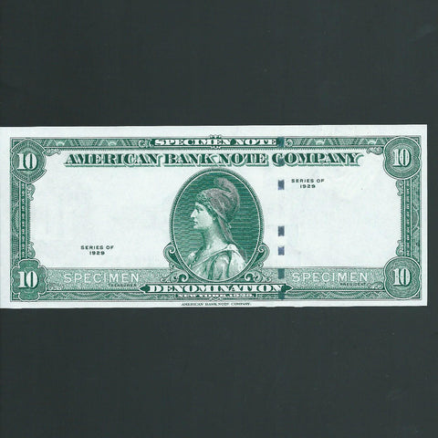 American Banknote Company specimen promotional note (no date) UNC