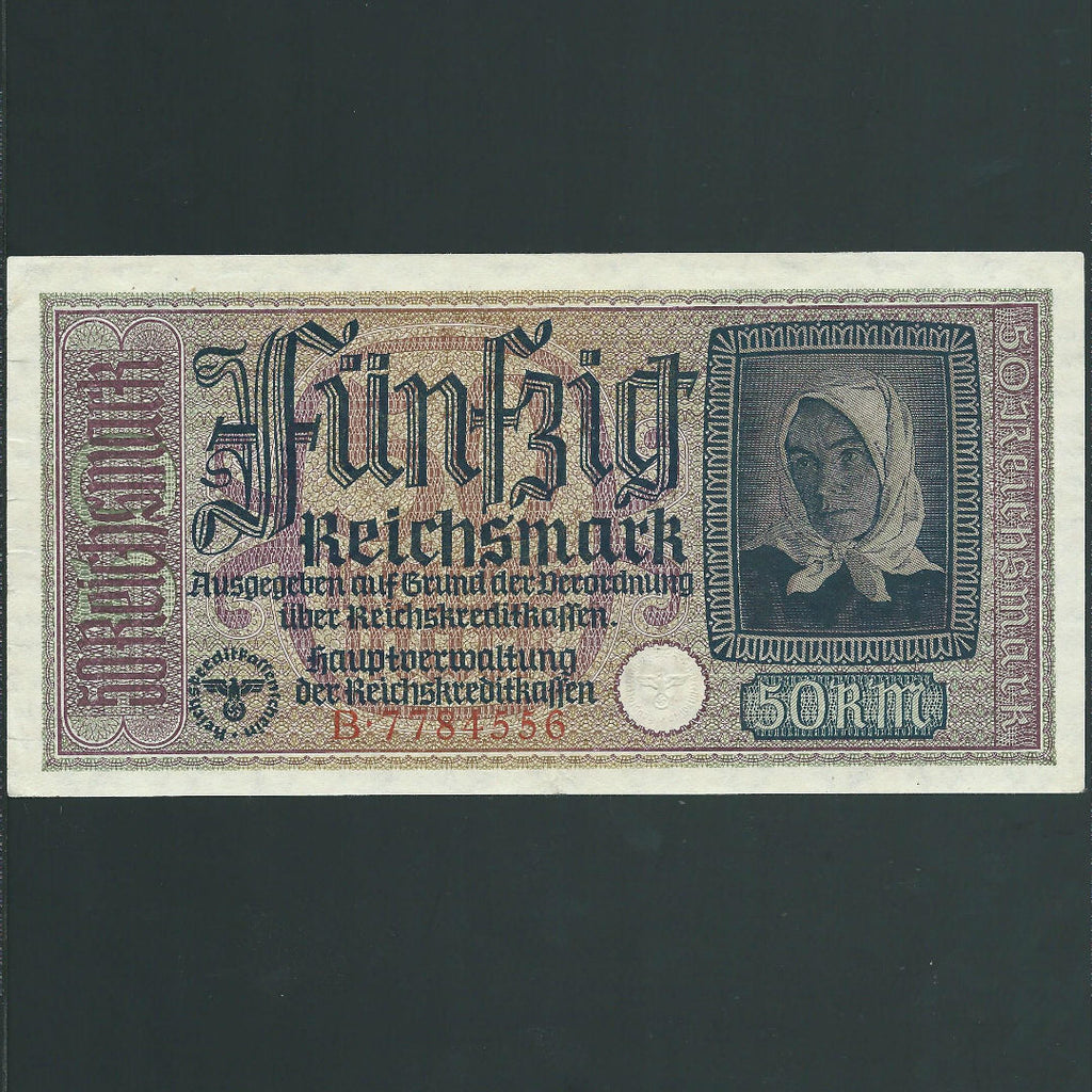 PR.137 Germany 50 Reichsmark (1939-45) Occupied Territories, Fine