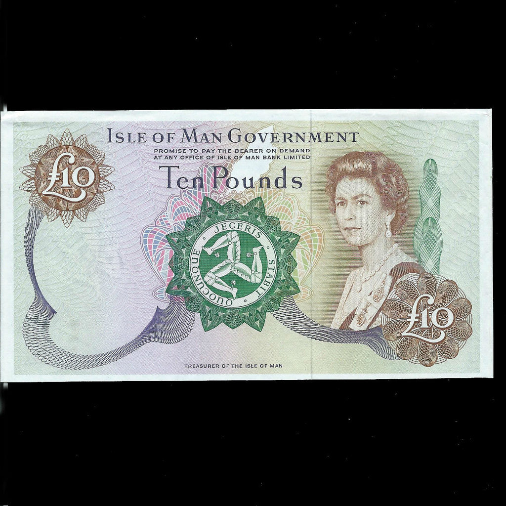 P.36 Isle of Man £10 proof note, no serials or signatures, Good EF